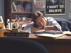 Mulder in his office