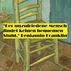 """"""" Vincents Stuhl mit Pfeife"""" von Vincent van Gogh (1853–1890)"""