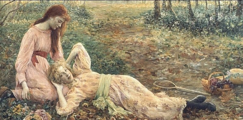 """Friends"" von Louise Catherine Breslau (1856–1927)"