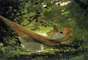 """In the Hammock"" von Winslow Homer (1836–1910)"