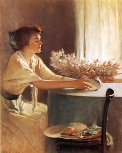 """""""A Meadow Flower"""" von John White Alexander (1856–1915)"""