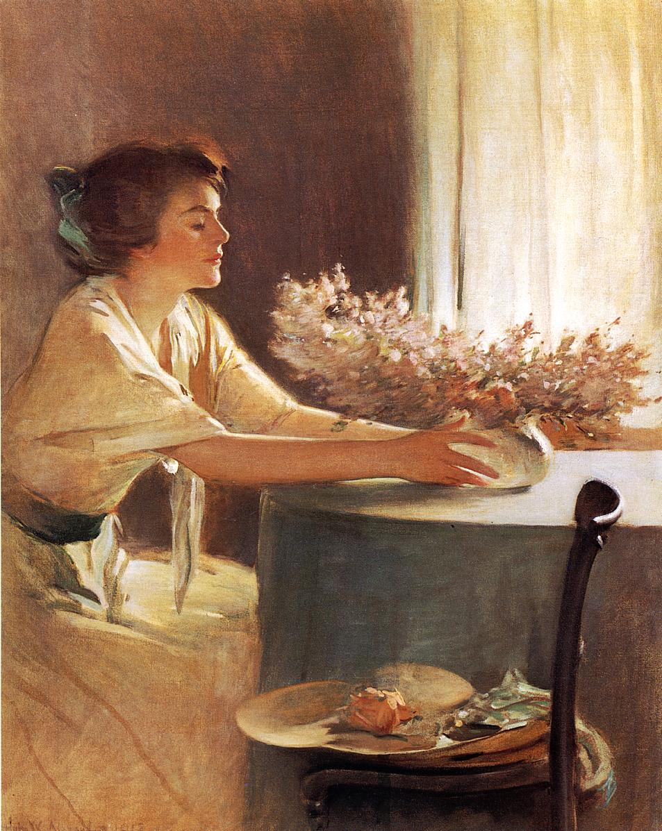 """A Meadow Flower"" von John White Alexander (1856–1915)"