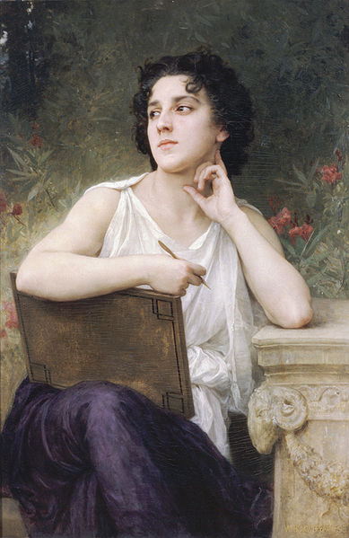 """Inspiration"" von William-Adolphe Bouguereau (1825-1905)"