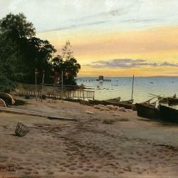"""Evening at the Seashore"" von Albert Nikolayevitch Benois (1852–1936)"