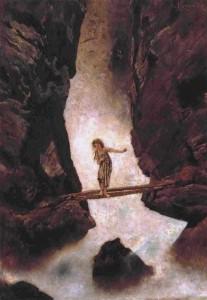 """""""Am Wasserfall"""" von Anton Romako (1832–1889)"""