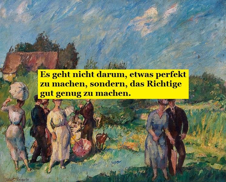 """""""Festliche Gesellschaft im Grünen."""" von Robert Engels (1866-1926)"""