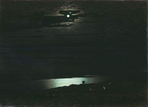 """Moonlit Night on the Dniepr"" (Öl auf Leinwand) von Arkhip Kuindzhi (1842–1911)"