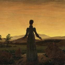 """""""Frau vor untergehender Sonne"""" (Caspar David Friedrich, 1774–1840)"""