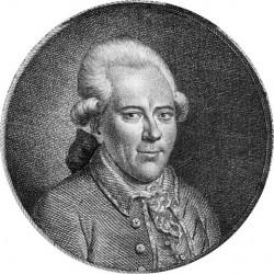 Porträt des Georg Christoph Lichtenberg (Stich von Johann Conrad Krüger nach Gemälde von Johann Ludwig Strecker)