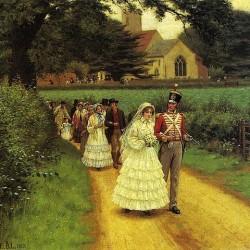 """""""Wedding March"""" von Edmund Blair Leighton (1853–1922)"""