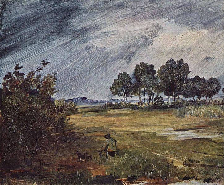 """""""Regenlandschaft"""" von Wilhelm Busch"""