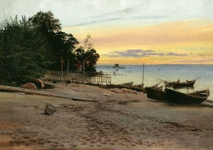 """Evening at the Seashore"" von Albert Nikolayevitch Benois (1852–1936)"