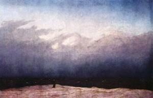 """""""Der Mönch am Meer"""" von Caspar David Friedrich (1774–1840)"""