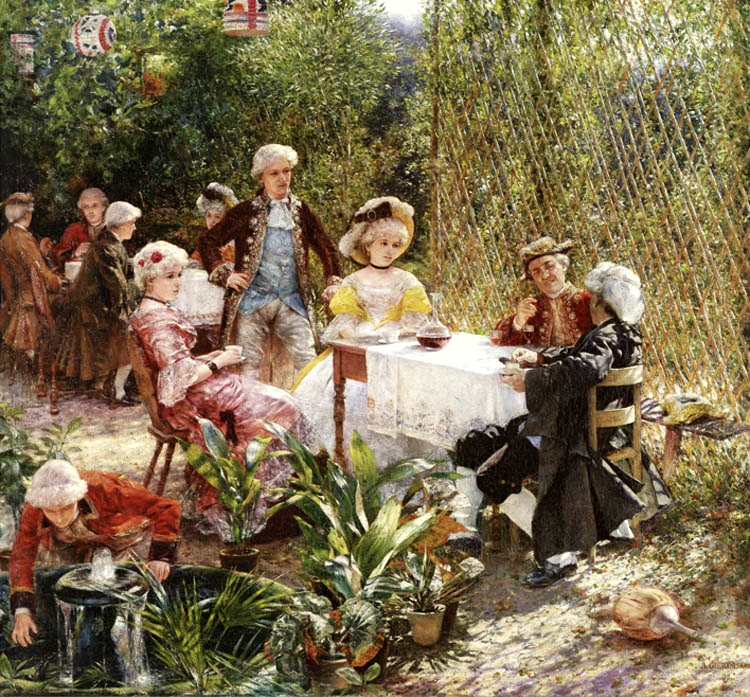 """In the Arbour"" von Aleksander Gierymski (1850–1901)"