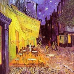 """""""Caféterasse bei Nacht"""" von Vincent van Gogh, 1888"""