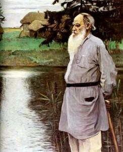 Tolstoi 1907, gemalt von Michail Wassiljewitsch Nesterow (1862–1942)