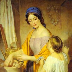 Young Housewife by Alexey Tyranov (1801–1859)