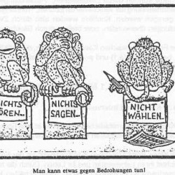 Bildquelle: Unterlagen zur Zivildienstgrundausbildung in Österreich von circa 1999, Teil politische Bildung
