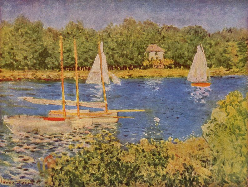 """""""Das Seinebecken bei Argenteuil"""" (Claude Monet, 1840–1926)"""