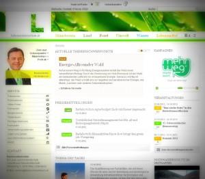 Homepage des Lebensministeriums am 13.10.2012 (Lomo-Effekt von uns hinzugefügt)
