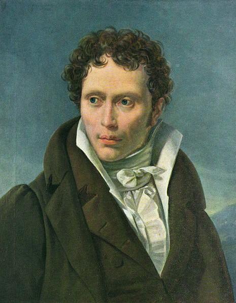 Arthur Schopenhauer, circa 1815, gemalt von Ludwig Sigismund Ruhl (1794–1887)