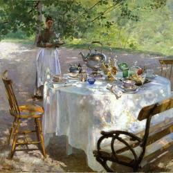 """Frukostdags"" (Frühstückszeit) von Hanna Pauli (1864-1940)"