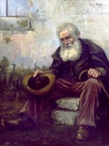 Alter Bettler, gemalt von Louis Dewis (1916)