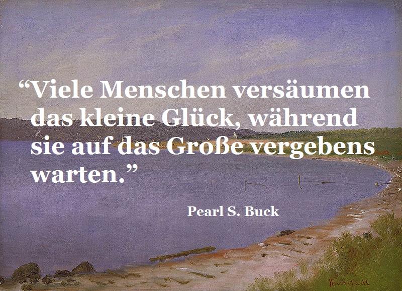 """""""San Francisco Bay"""" von Albert Bierstadt (1830–1902), mit Zitat von Pearl S. Buck"""