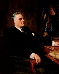 Franklin Delano Roosevelt 1947 im Weißen Haus (White House Historical Association)