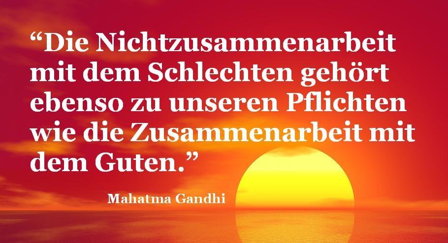 Gandhi Zitat (Bild: Pete Linforth, Pixabay)