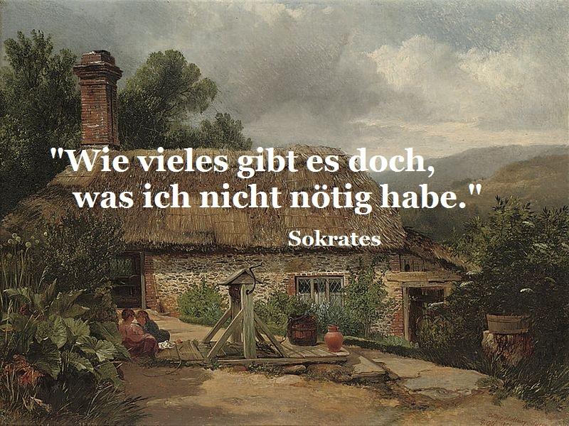"""Bild: """"A cottage at Albury"""" von George Cole (1810-1883)"""