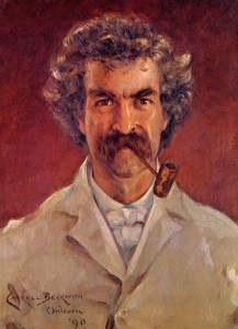 Mark Twain, 1890 porträtiert von James Carroll Beckwith (1852 – 1917)