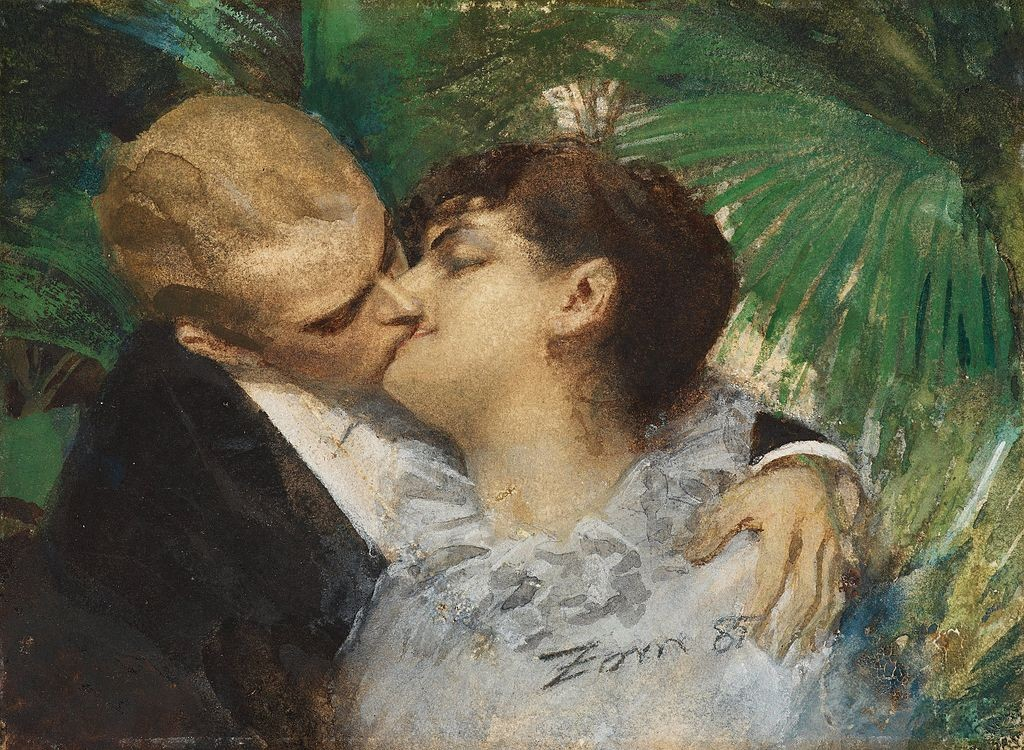 """""""The Embrace"""" von Anders Zorn (1860-1920)"""
