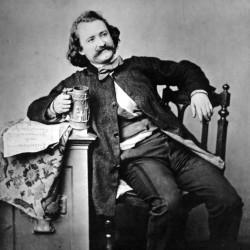 Wilhelm Busch, 1860, fotografiert von Edgar Hanfstaengl