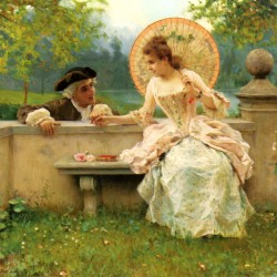 """A Tender Moment in the Garden"" von Federico Andreotti (1847–1930)"