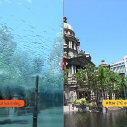 Mögliche Folgen des Klimawandels am Beispiel Durban (c) climatecentral.org