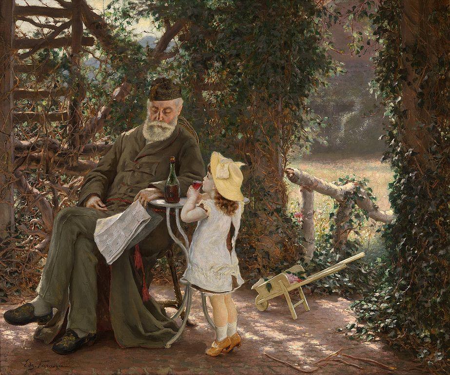 """Human Contentments"" von Edgard Farasyn (1858 – 1938)"