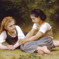 """""""The Nut Gatherers"""" (1882) von William-Adolphe Bouguereau (1825-1905)"""