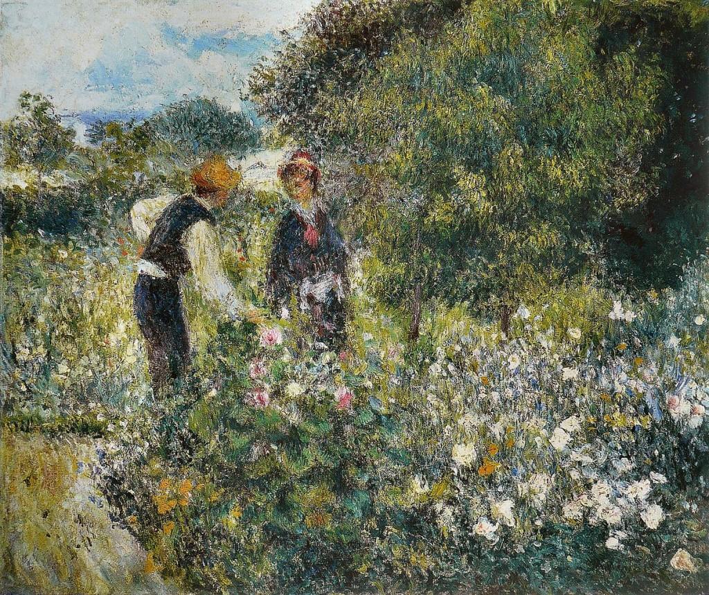 """""""La Cueillette des fleurs"""" (1875) von Pierre-Auguste Renoir (1841–1919)"""