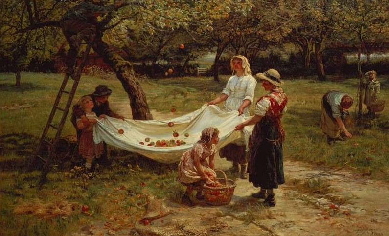 """The Apple Gatherers"" (1880) von Frederick Morgan (1856-1927)"
